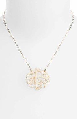 Moon and Lola Medium Oval Personalized Monogram Pendant Necklace