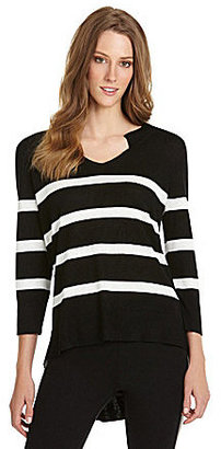 Vince Camuto TWO by Hi-Low Striped Sweater