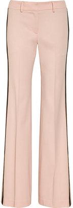 Skaist-Taylor Satin-trimmed wool-blend twill pants