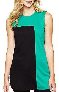 JCPenney Worthington® Sleeveless Colorblock Tunic