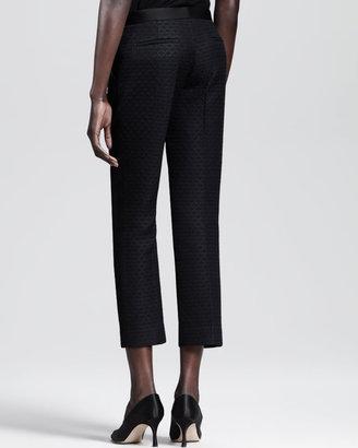 The Row Leaf-Jacquard Cropped Pants