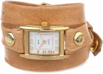 La Mer Women's LMSTW3007 Camel Gold Simple Wrap Watch