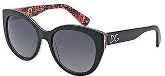 D&G Painted Mosaico Collection Cateye Sunglasses