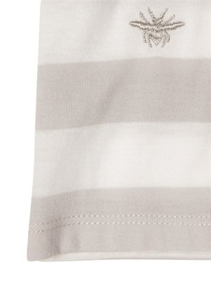 Christian Dior Striped Cotton Jersey Polo Shirt