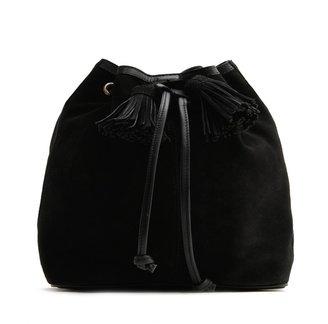 MANGO TOUCH - Suede bucket bag
