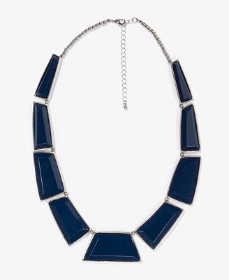 Forever 21 Faceted Faux Stone Necklace