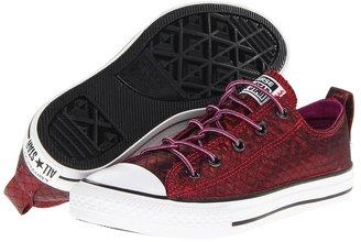 Converse Chuck Taylor All Star Twisteez Slip (Little Kid/Big Kid) (Black/Black/Grape) - Footwear