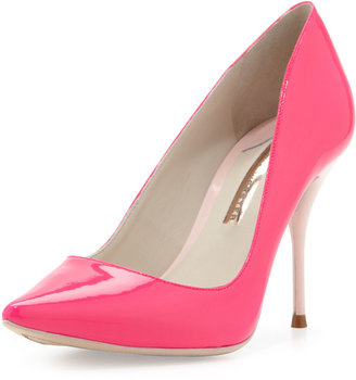 Webster Sophia Lola Glossy Point-Toe Pump, Hot Pink/Blush
