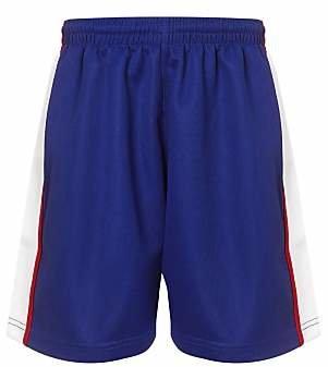 Unbranded The Mountbatten School Unisex Sports Shorts, Royal Blue/White