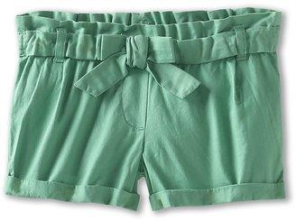 Benetton Kids - Girls' Solid Short w/ Bow (Toddler) (Navy) - Apparel