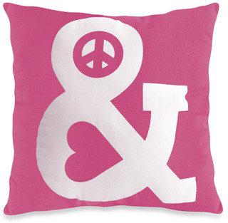Bed Bath & Beyond Threadless Peace & Love Toss Pillow