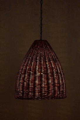 Anthropologie Basket-Weave Pendant Lamp
