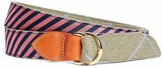 Brooks Brothers Kiel James Patrick Navy and Pink Mini BB#5 Stripe and Herringbone Belt