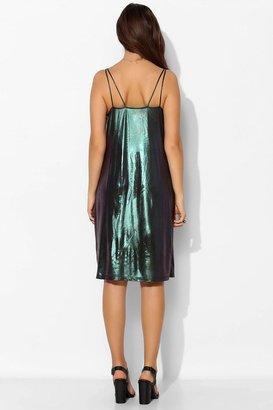 Motel Meadow Holographic Tank Dress