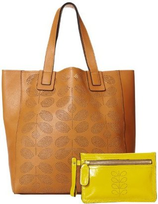 Orla Kiely Sixties Stem Punched Leather Shoulder Bag