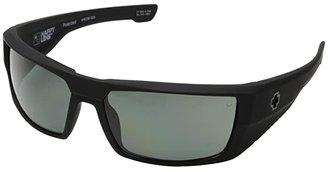 Spy Optic Dirk (Soft Matte Black - HD Plus Gray Green Polar) Sport Sunglasses