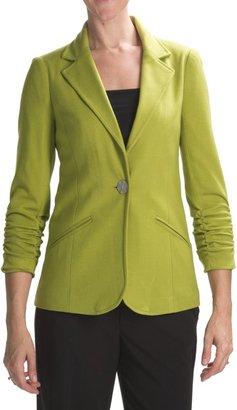 Anthracite Ponte Knit Blazer (For Women)