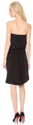 Wes Gordon Drawstring Bustier Dress