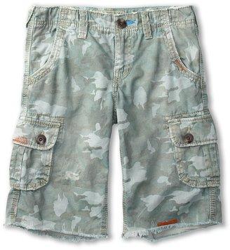 True Religion Boys' Recon Camo Cargo Short (Toddler/Little Kids/Big Kids) (Sea Grass) - Apparel