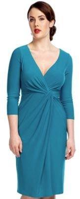Drape Front Jersey Dress
