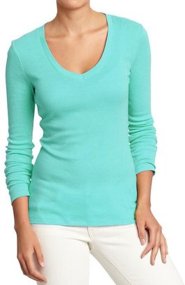Old Navy Women's Long-Sleeved V-Neck Tees