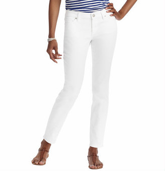 """LOFT Curvy Skinny Ankle Jeans in White with 27 1/2"""" Inseam"""