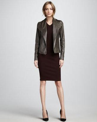 Vince Leather Jacket, Ash