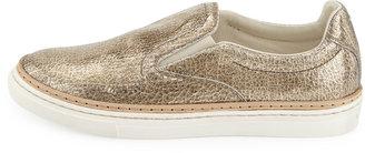 Maison Martin Margiela Crackled Metallic Slip-On Sneaker