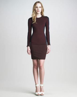 3.1 Phillip Lim Ponte-Jersey High-Waist Skirt
