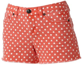 Lauren Conrad polka-dot distressed cut-off denim shorts
