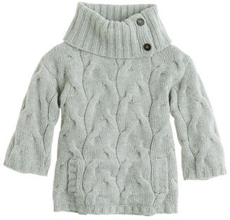 J.Crew Girls' cabled lambswool popover