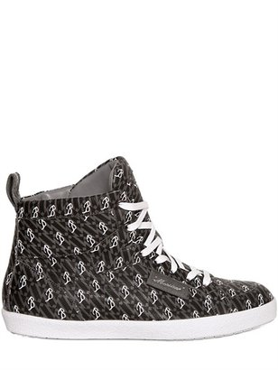 Viktor & Rolf Leather Bos Taurus High Top Sneakers
