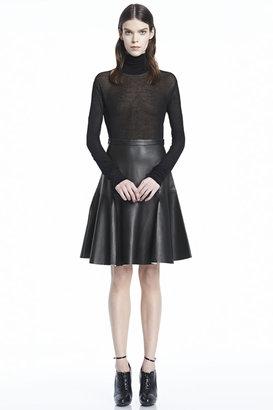 J Brand Torre Leather Skirt