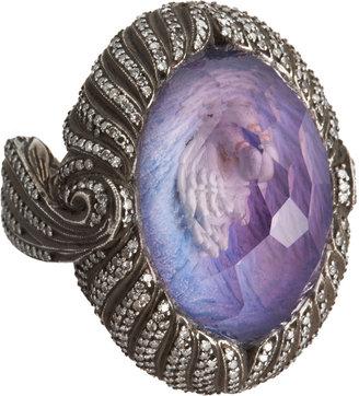 Sevan Biçakci Swan Carved Amethyst Ring