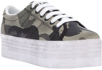 Jeffrey Campbell 'Homg' camouflage platform sneaker