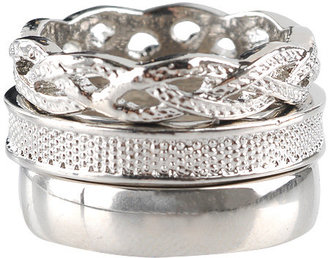 Forever 21 Solid Mesh Braid Ring Set