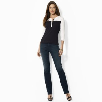 Lauren Ralph Lauren Ralph Color-Blocked Cotton Henley
