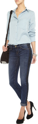 Current/Elliott The Rolled Skinny cropped mid-rise jeans