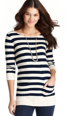 LOFT Striped Bow Back Tunic