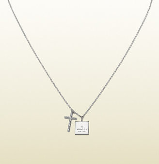 Gucci Necklace With Engraved Trademark Pendants