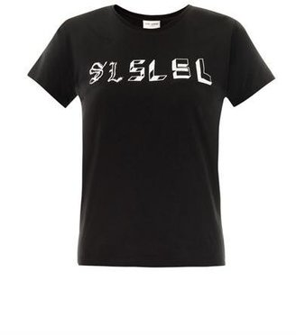 Saint Laurent SL-print T-shirt