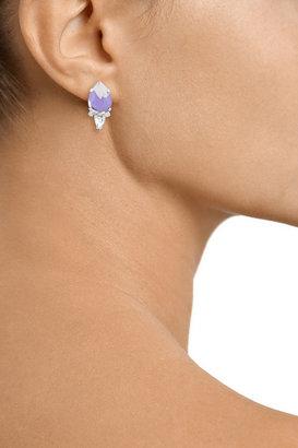 Noir Silver-plated crystal earrings
