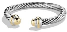 David Yurman Cable Classics Bracelet with Gold $775 thestylecure.com