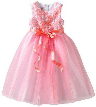 Marmellata classics glitter tulle rosette dress - toddler