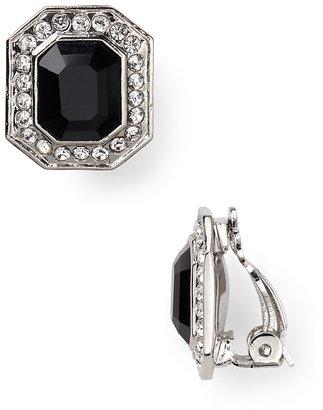 Carolee Hexagon Button Clip On Earrings