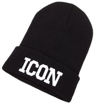 """Charlotte Russe """"Icon"""" Fold-Over Beanie"""