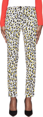 Mugler White Leopard Print Applique Trousers $1,000 thestylecure.com