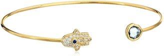 Tai Gold Evil Eye Open Cuff Bracelet
