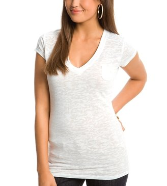 G by Guess Ava V-Neck Burnout Tee