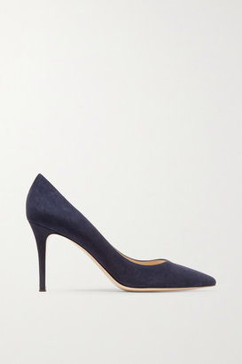 Gianvito Rossi 85 Suede Pumps - Midnight blue